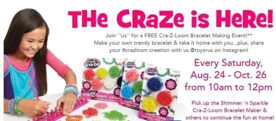 "Cra-Z-Loom Bracelet Making Event at Toys""R""Us Monroeville Monroeville, PA #Kids #Events"