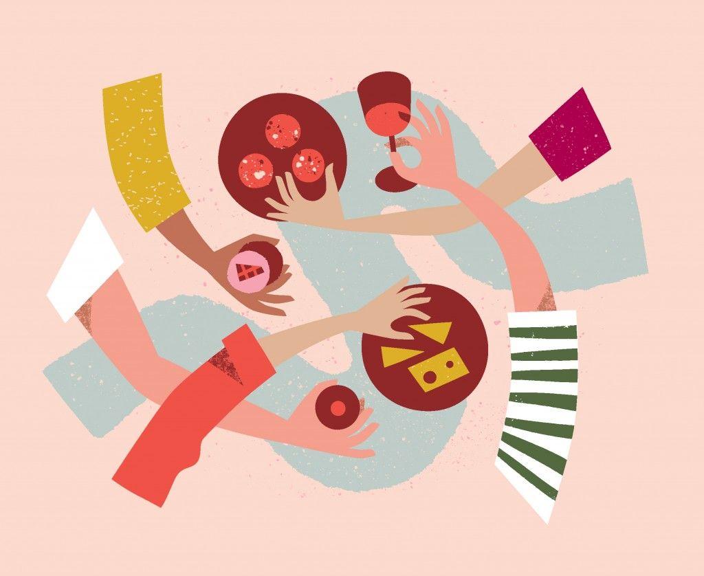 Antra Svarcs Lends A Hand At Melbourne Food Wine Festival 2018 Illustration Design Graphic Illustration Food Graphic Design