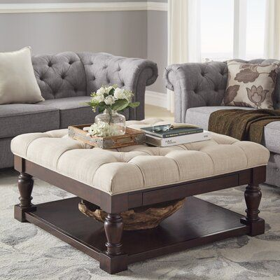 Crestwood Tufted Cocktail Ottoman