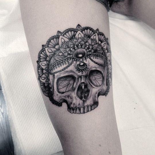 #tattoo #tatuagem #princess #skull #skul #princes #jewly
