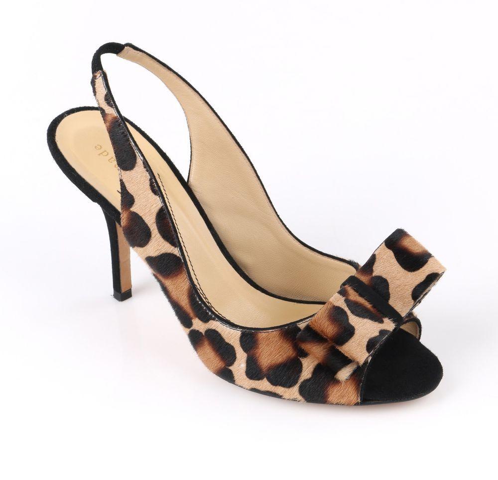 78d1093bf0 KATE SPADE Animal Leopard Print Calf Hair Peep Toe Sling Back Pumps Heels  Sz 7 B #katespadenewyork #PumpsClassics