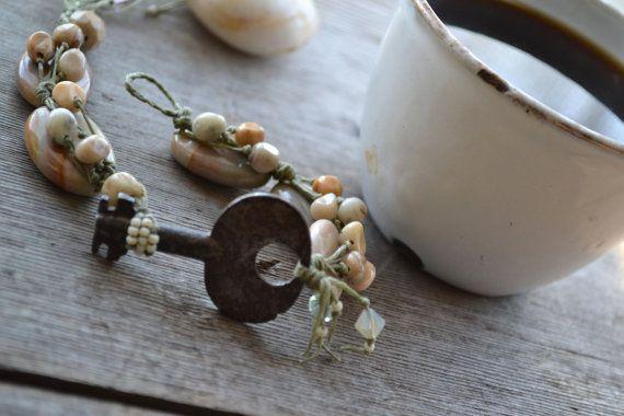 SALE  Vintage key bracelet / Jasper bracelet / by JeSoulStudio