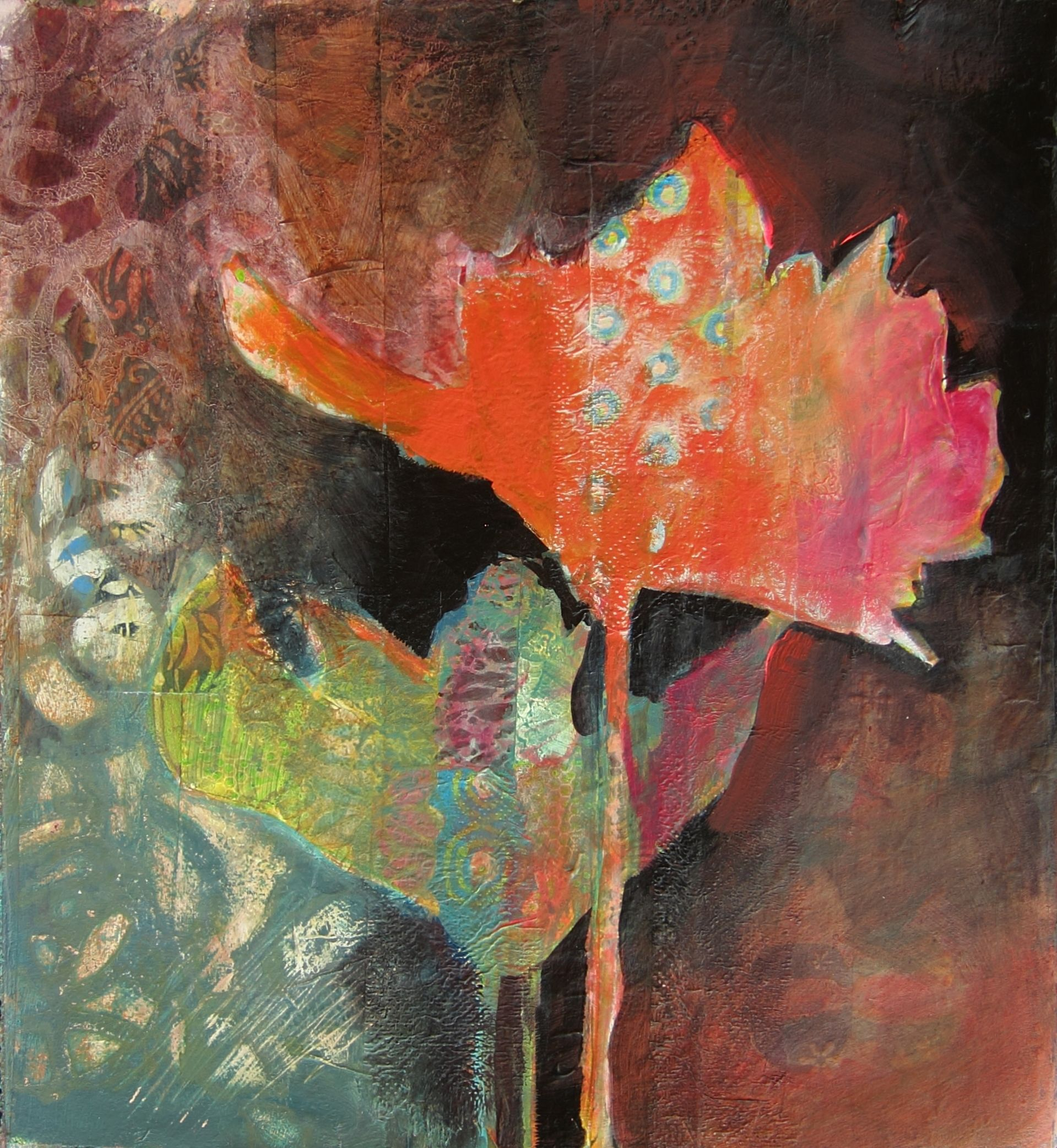 Mixed Media Demo From My Workshop Judy Thorley Intuitive Art