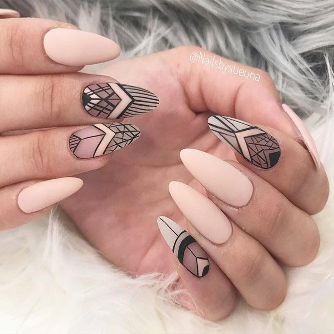 24 Ideas With Long Nails For Different Shapes Beautiful Almond Shape Picture 3 See More Glaminati Longnails