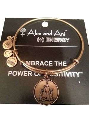 Disney Bracelet Walt World Castle Charm Alex And Ani Gold