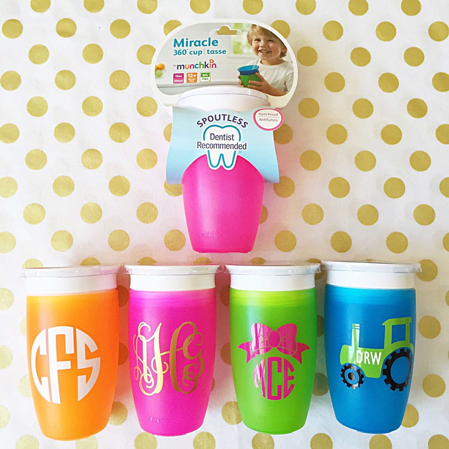 Toddler Baby Sippy Cup Monogram Initials Personalized By Shopbpink With Images Vinyl Gifts Baby Monogram Baby Sippy Cup