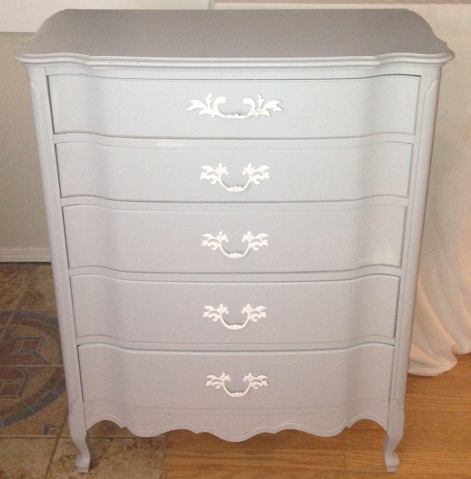 Grey Dresser White Hardware Grey Dresser Dresser Furniture [ 1625 x 1599 Pixel ]