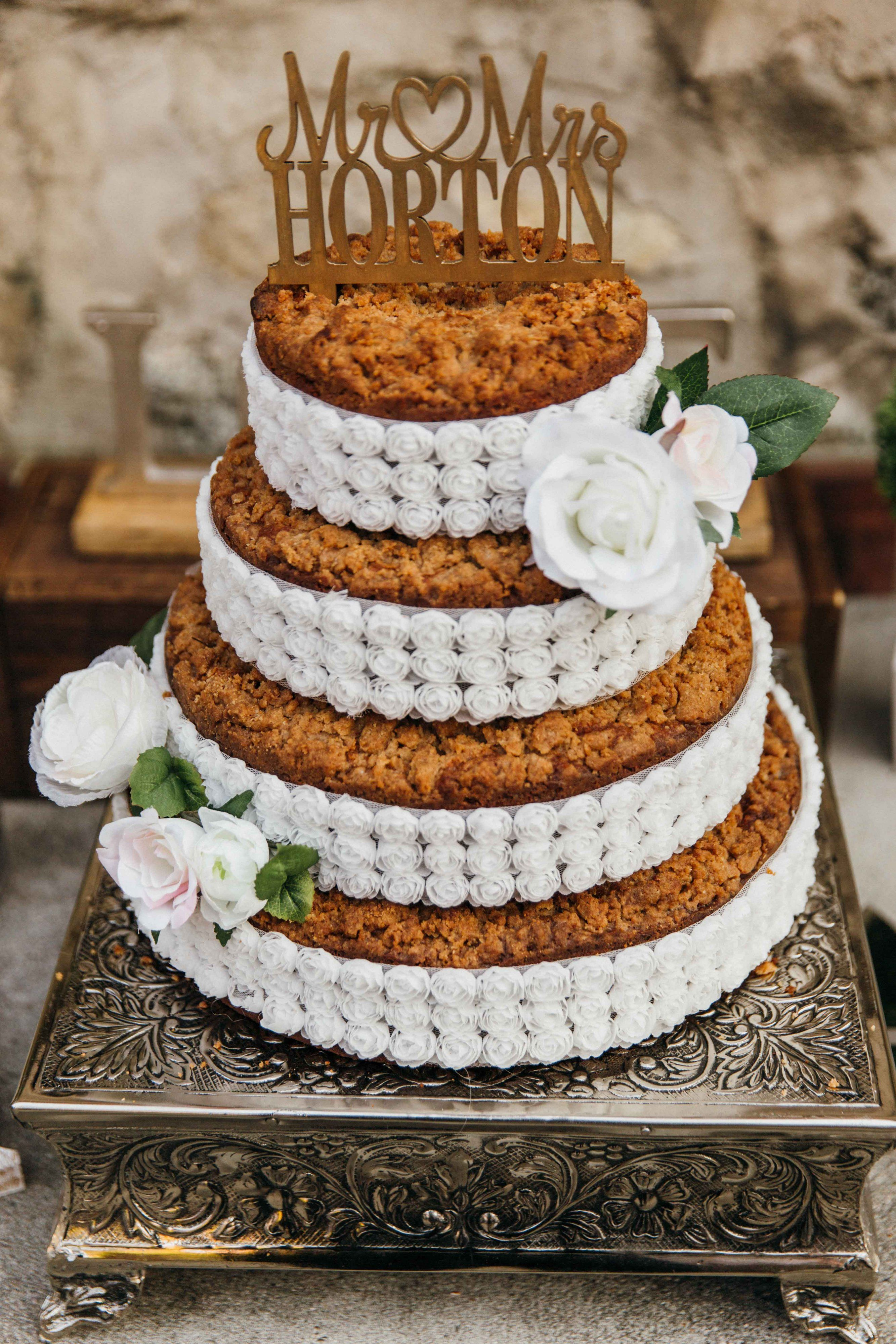 Coffee Cake As Our Wedding Cake Delicious And Beautiful Beautiful