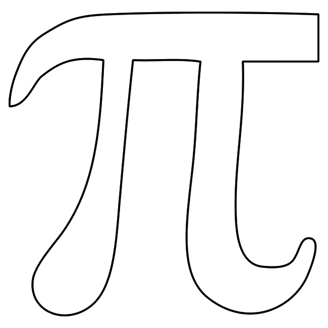 Blank pi printable template pi g n pinterest for Life of pi character development