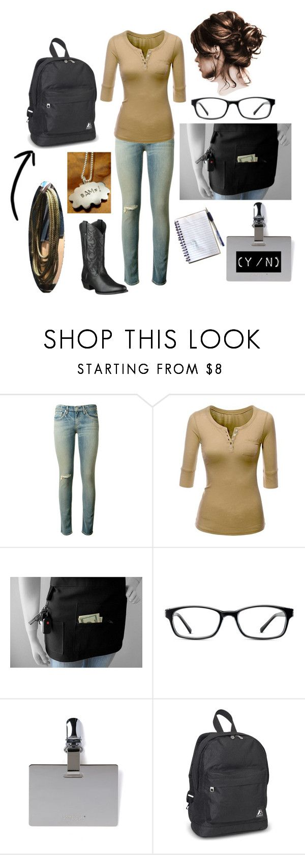 """""""Little McCree's Day Job"""" by qthawk on Polyvore featuring rag & bone, Doublju, Hostess, GlassesUSA and Everest"""