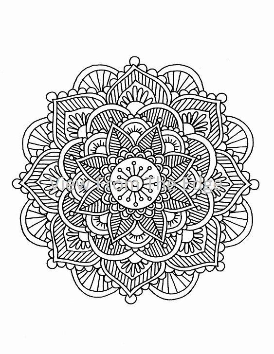 mandala coloring page mehndi henna printable pdf by katie n dunphy - Henna Coloring Pages