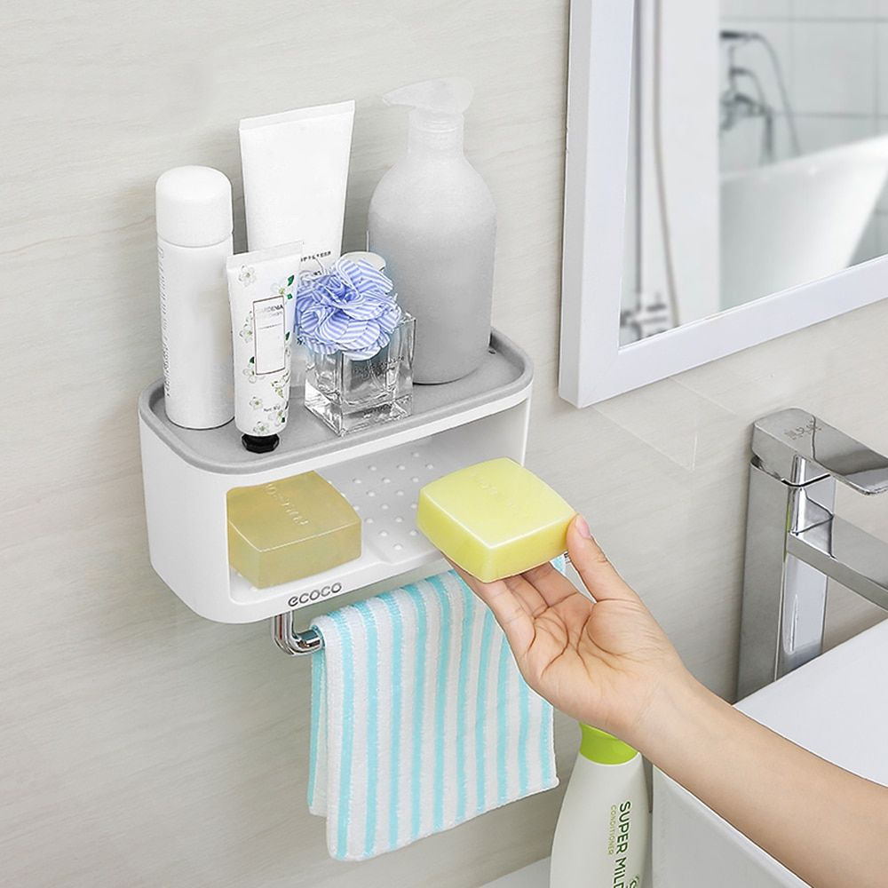 Buy Now Wall Mounted Bathroom Organizer Made Of Abs And Ps Material For Perfect For Holding Soap And Toilet Paper Online Bathroom Organisation Soap Organization