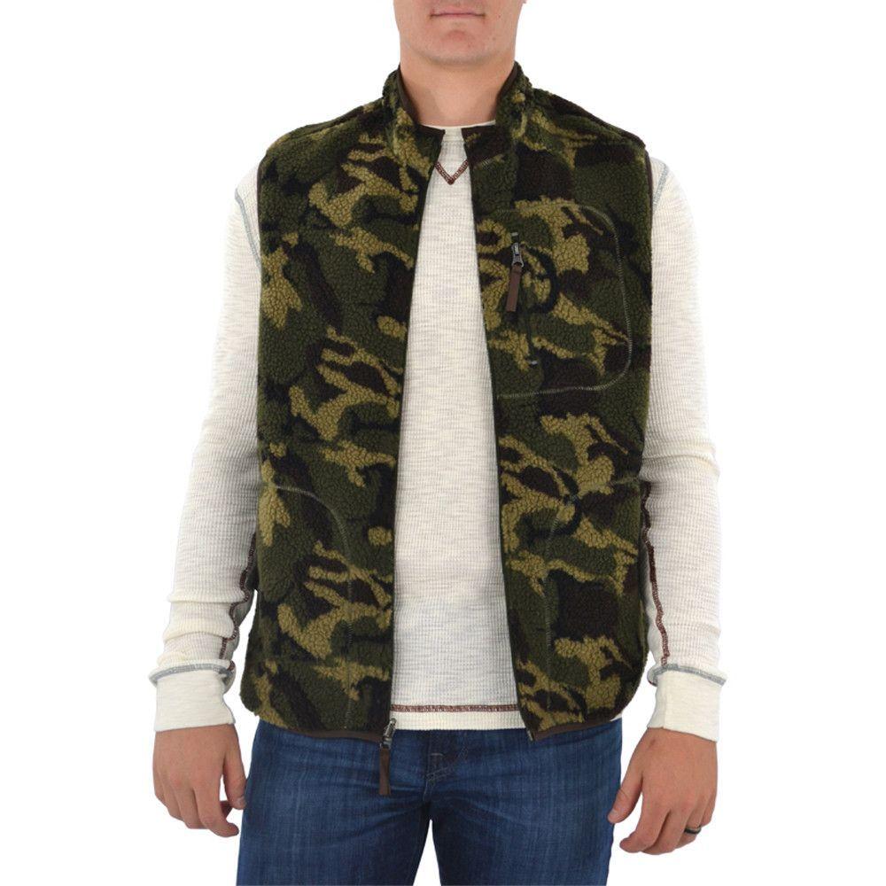 Men's Camo Reversible Bomber Down Jacket