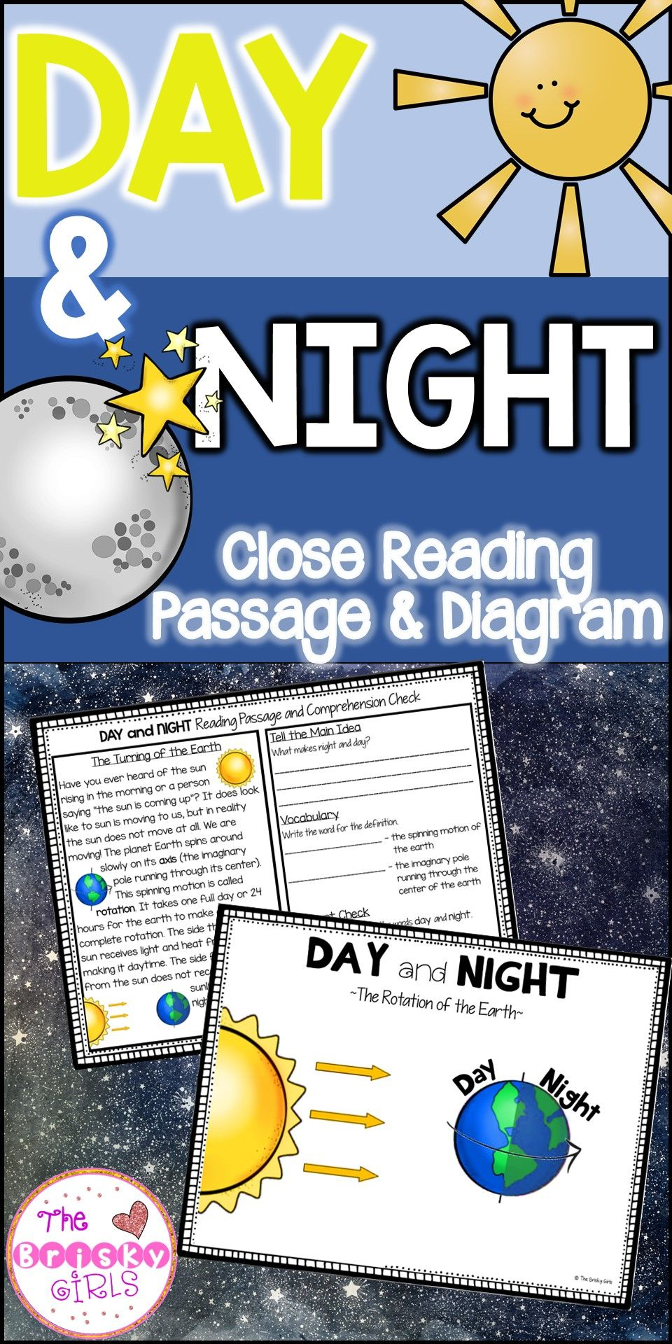 Day and night reading passage and diagram outer space activities day and night reading passage and diagram ccuart Gallery