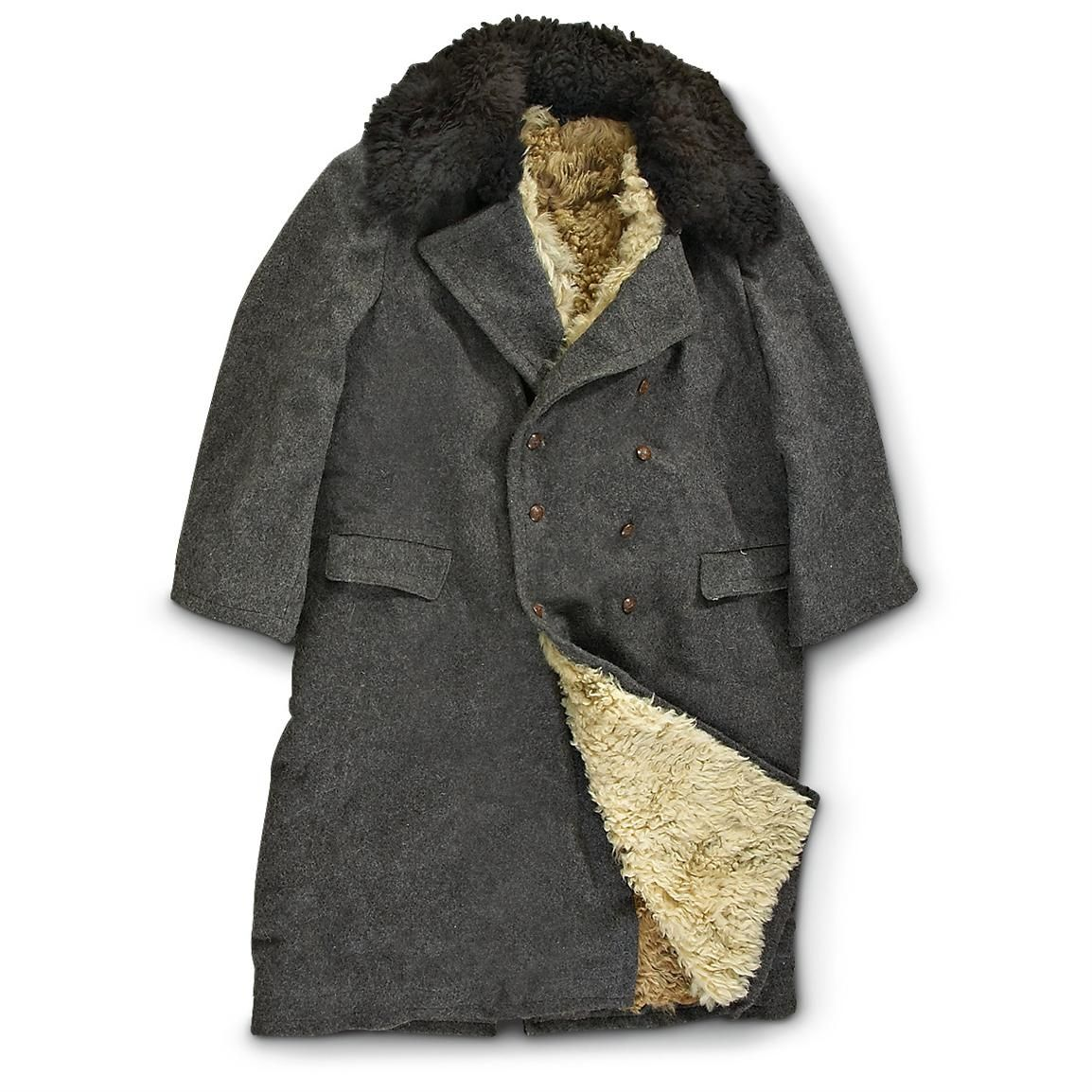 New Bulgarian Military Surplus Wool Trench Coat, Gray with ...