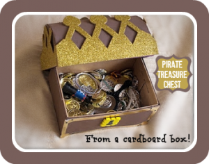 how to make a pirate treasure chest kindergeburtstag. Black Bedroom Furniture Sets. Home Design Ideas