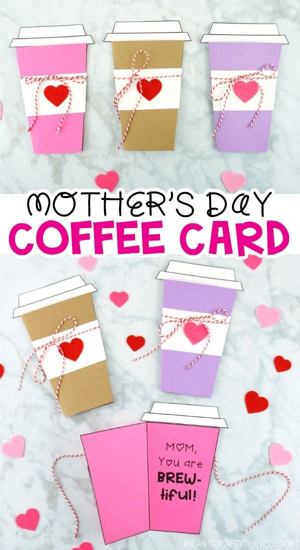 Mother S Day Coffee Card Template Coffee Cards Mother S