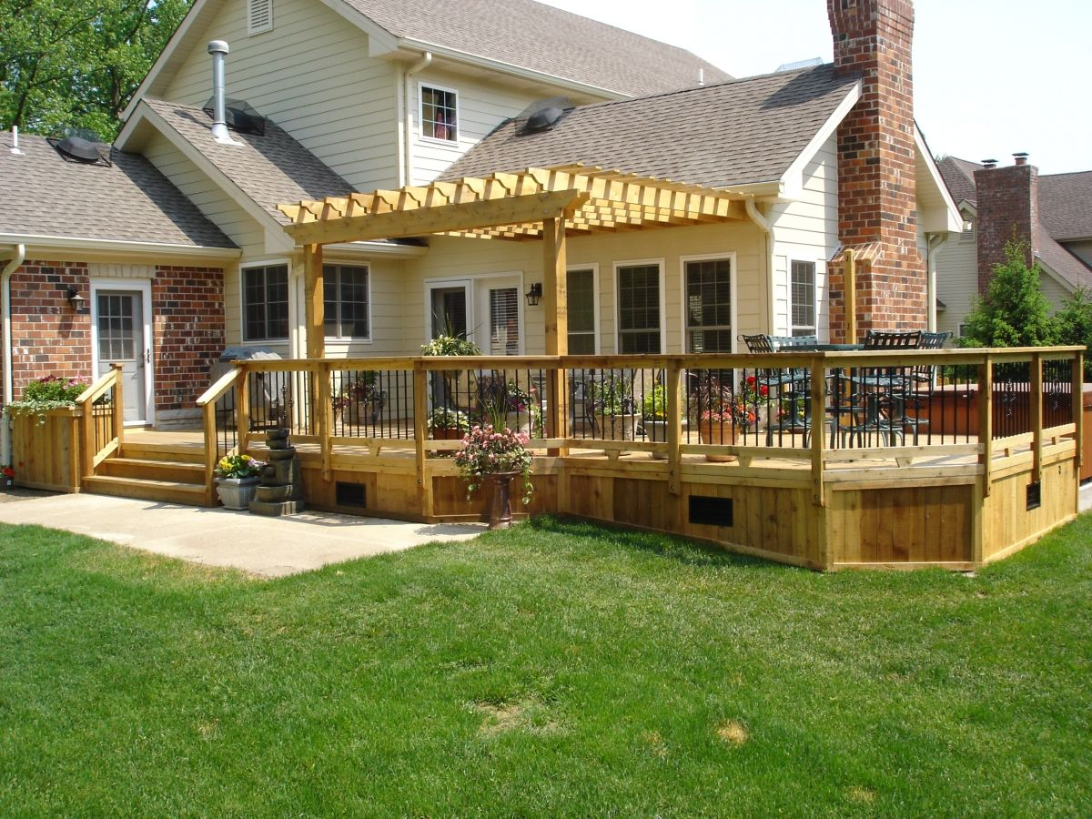 Image of deck pergola designs deck patio pinterest for Patio plans and designs