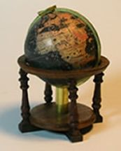 Miniature Antique Library Globes
