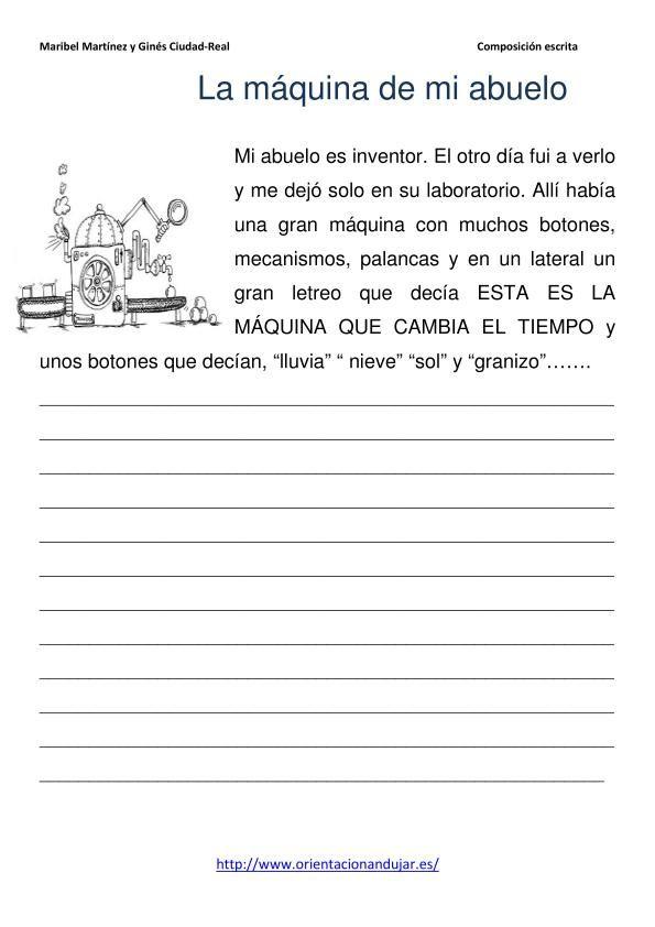 Escritura Creativa El Muneco De Nieve Parlanchin Y La Maquina Meteorologica Orientacion Andujar Escritura Creativa Lectura De Comprension Escritura