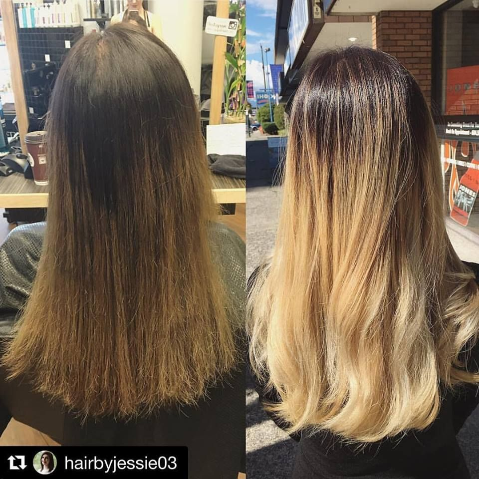 Color Correction Bad Brassy Brownish Ombre To Beautiful Blonde Ombre Ombre
