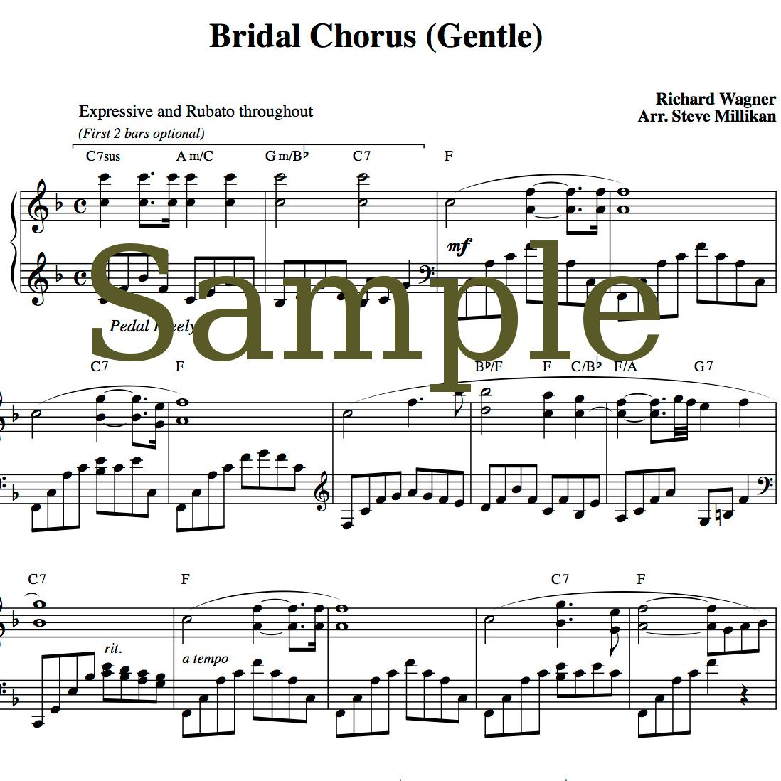Piano Songs To Walk Down The Aisle To: Bridal Chorus Sheet Music (Here Comes The Bride, Wedding