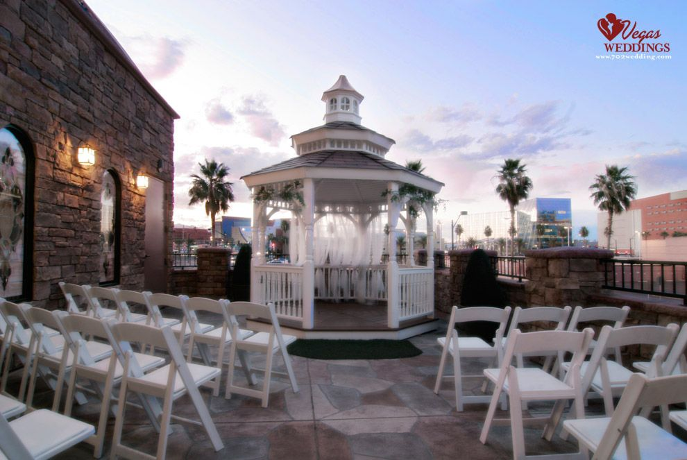 The Terrace Looking For An Outdoor Wedding Chapel In Las Vegas With Gazebo