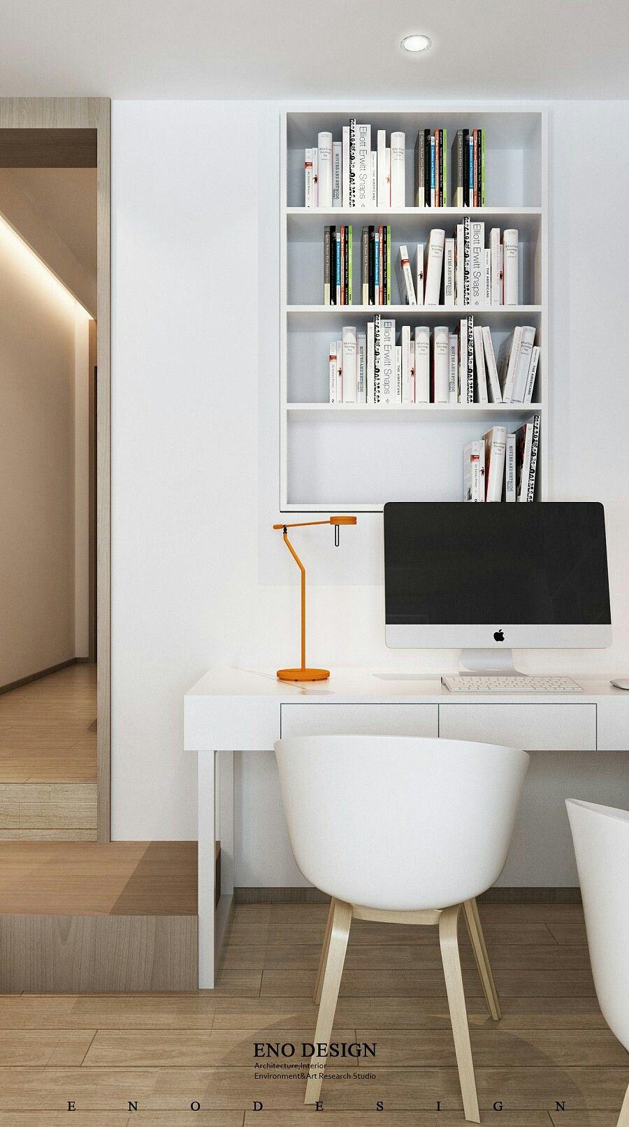 Minimalist Home Office Idea / By ENO DESIGN #homeoffice #bureau #idée  #interieur