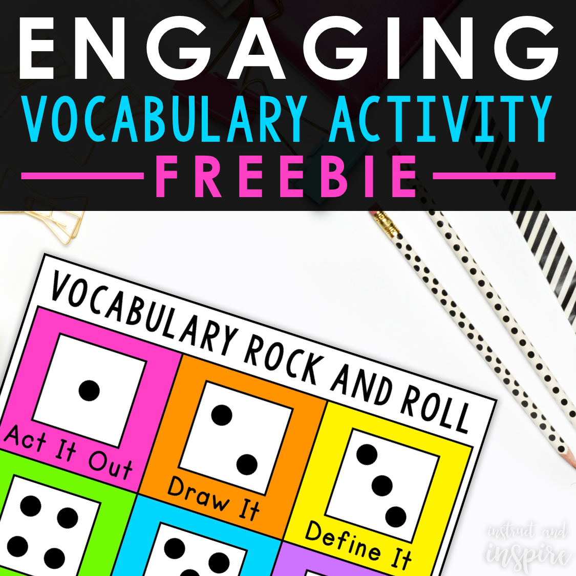 Vocabulary Dice Activity Instruct And Inspire Word Study