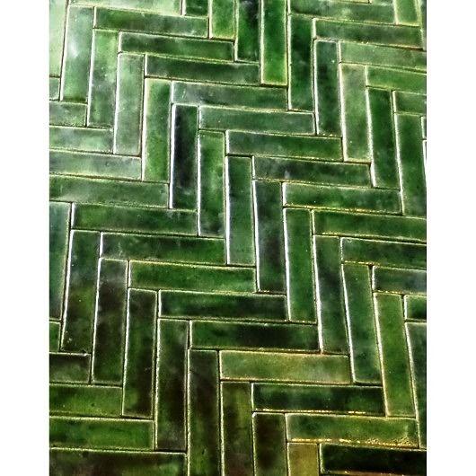 Mozaika Zielona Jodelka Pakamera Pl Dark Green Tile Green Tile Backsplash Green Mosaic Tiles