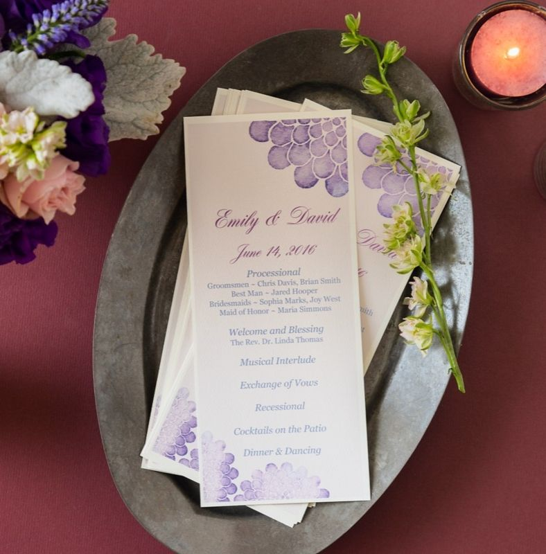 printing your own diy wedding programs is easy with avery menu cards