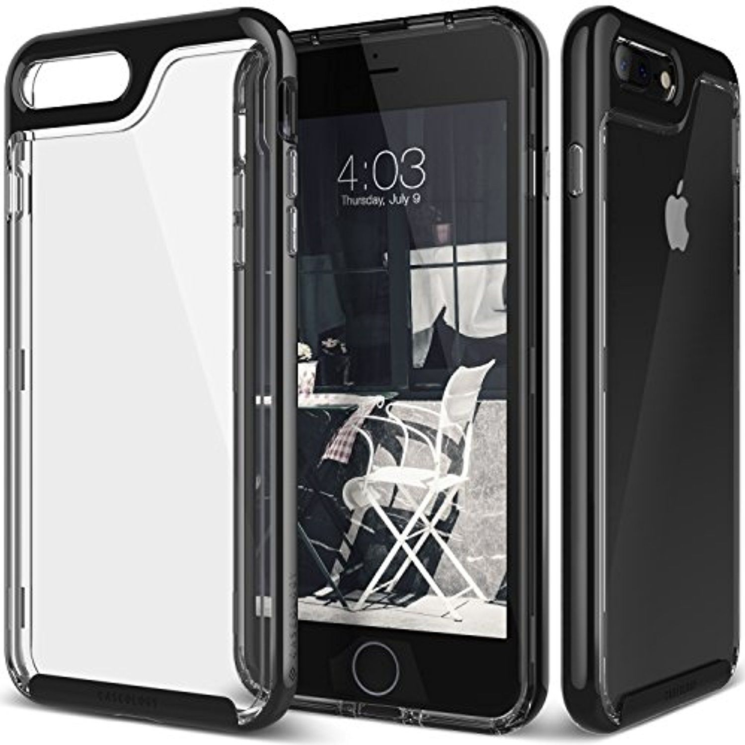 Iphone 7 Plus Case Caseology Skyfall Series Transparent Clear Enhanced Grip Jet Black Slim Cushion For Ap Iphone 7 Plus Cases Iphone 7 Plus Apple Iphone