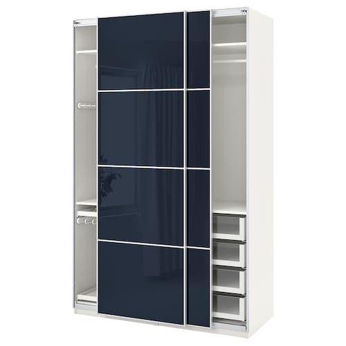 Ikea Struttura Guardaroba Pax.Gressvik Struttura Letto Con Contenitore Grigio Fumo 160x200 Cm
