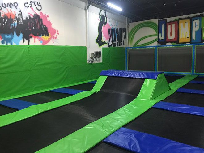 Liben Built A New Indoor Trampoline Park Project In Israel On 1st May 2016 This Indoor Trampoli Indoor Trampoline Backyard Trampoline Indoor Basketball Hoop