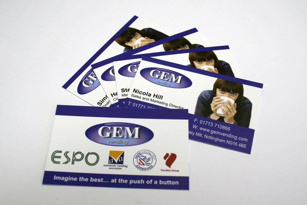 Latest business cards for that we designed and produced for GEM ...