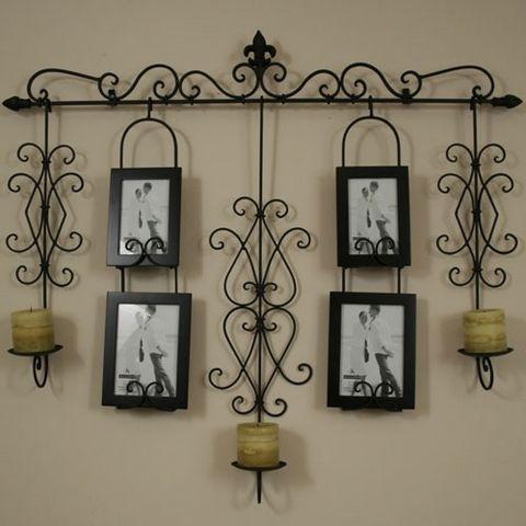 wrought iron wall hanging- so Santa barbara tuscan.. just my style ...