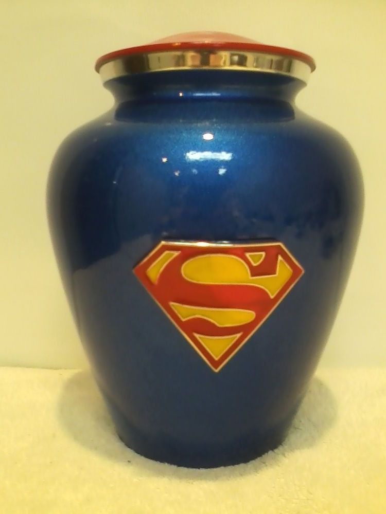820 super hero funeral memorial cremation urn with free dog tag with