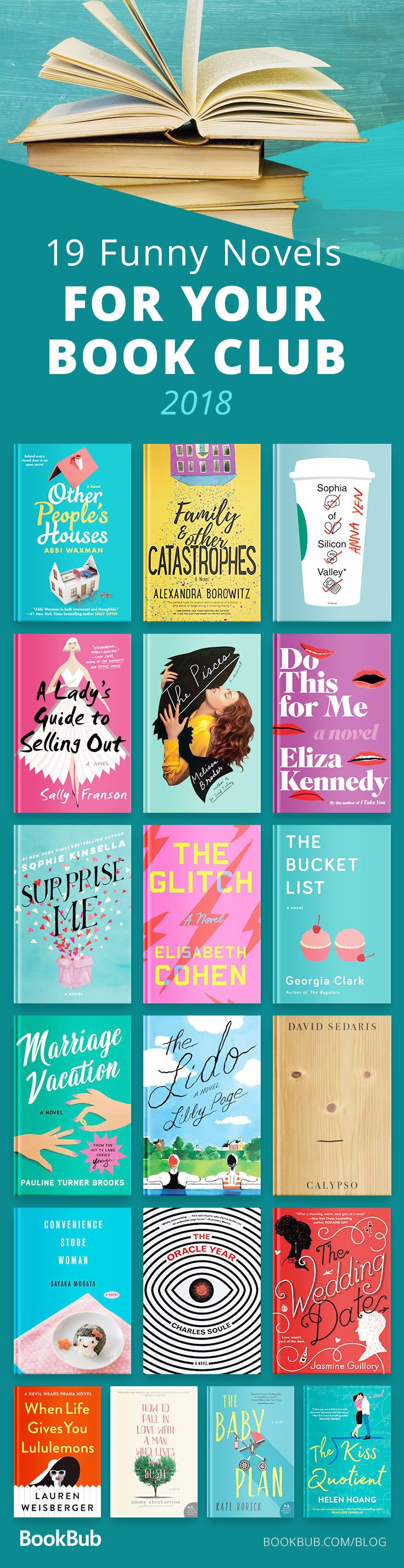 19 LaughOutLoud Reads for Your Book Club is part of Book club books, Book worth reading, Books to read, Book lists, Books, Book quotes - Including new releases from Sophie Kinsella and Lauren Weisberger
