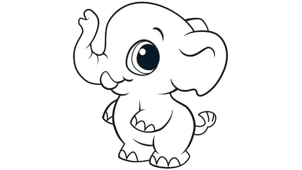 Cute Coloring Pages Easy Easycoloringpages Cutecoloringpageseasy Coloringpageseasy Baby Elephant Coloring Page Animal Coloring Books Cartoon Coloring Pages