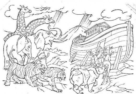 Animals in the Bible\' Printable Coloring Pages