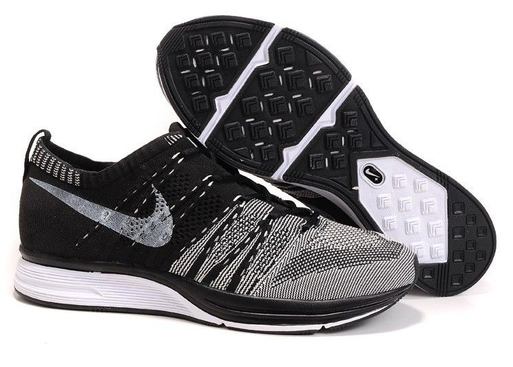 Nike Flyknit Trainer Shoes Green Black Big Sales