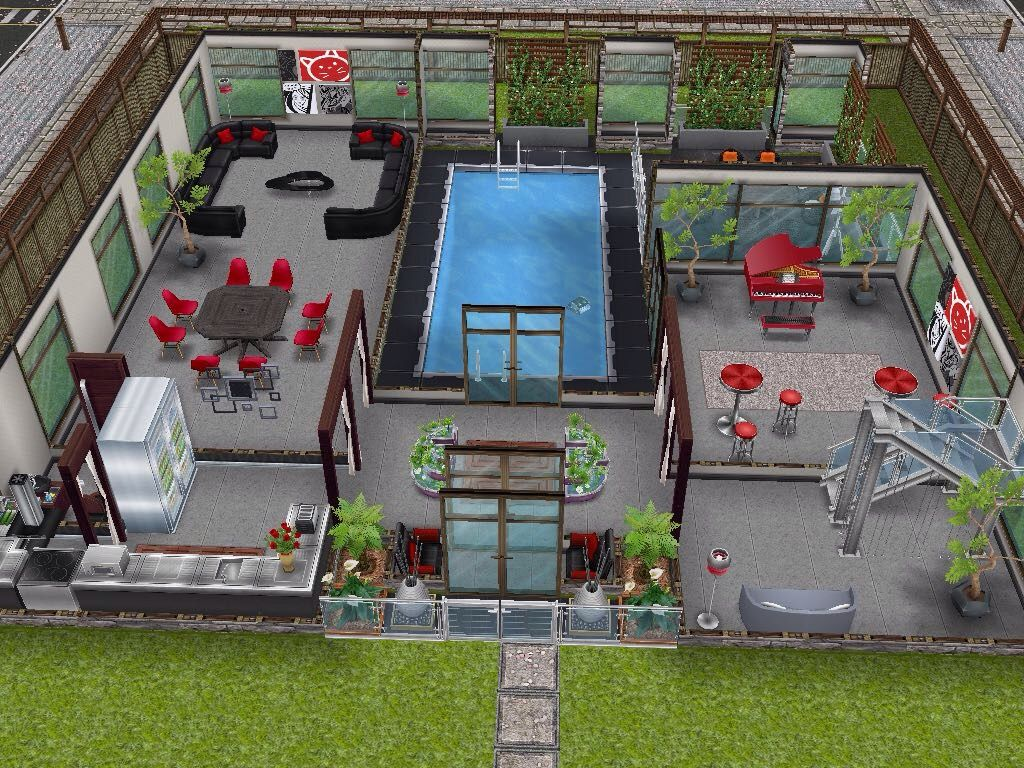 House 66 ground level #sims #simsfreeplay #simshousedesign ...