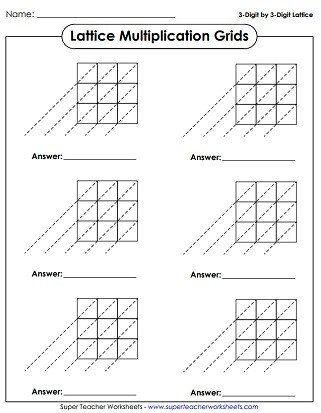 Box Method Multiplication Worksheet Worksheets