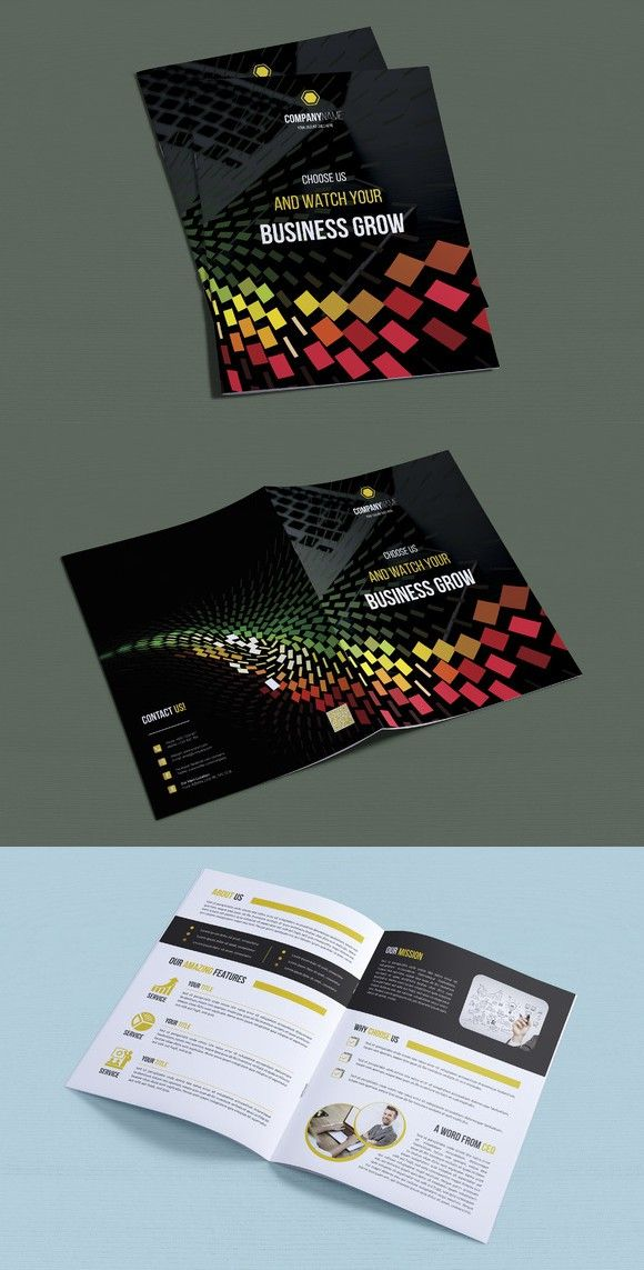 Bifold Brochure Brochures, Brochure template and Fonts - brochures templates word