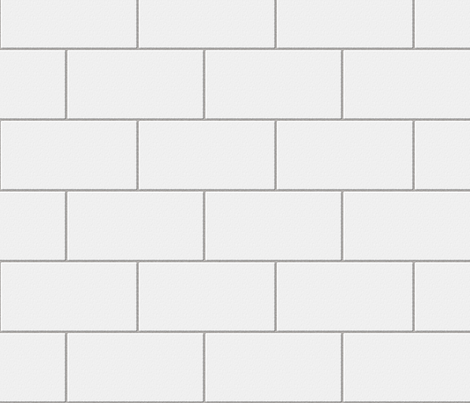 Subway Tile Pattern subway tile - white fabricglimmericks on spoonflower - custom