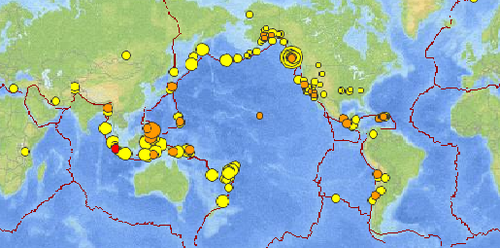 Real Time Earthquake Map From Usgs Items Of Note Pinterest