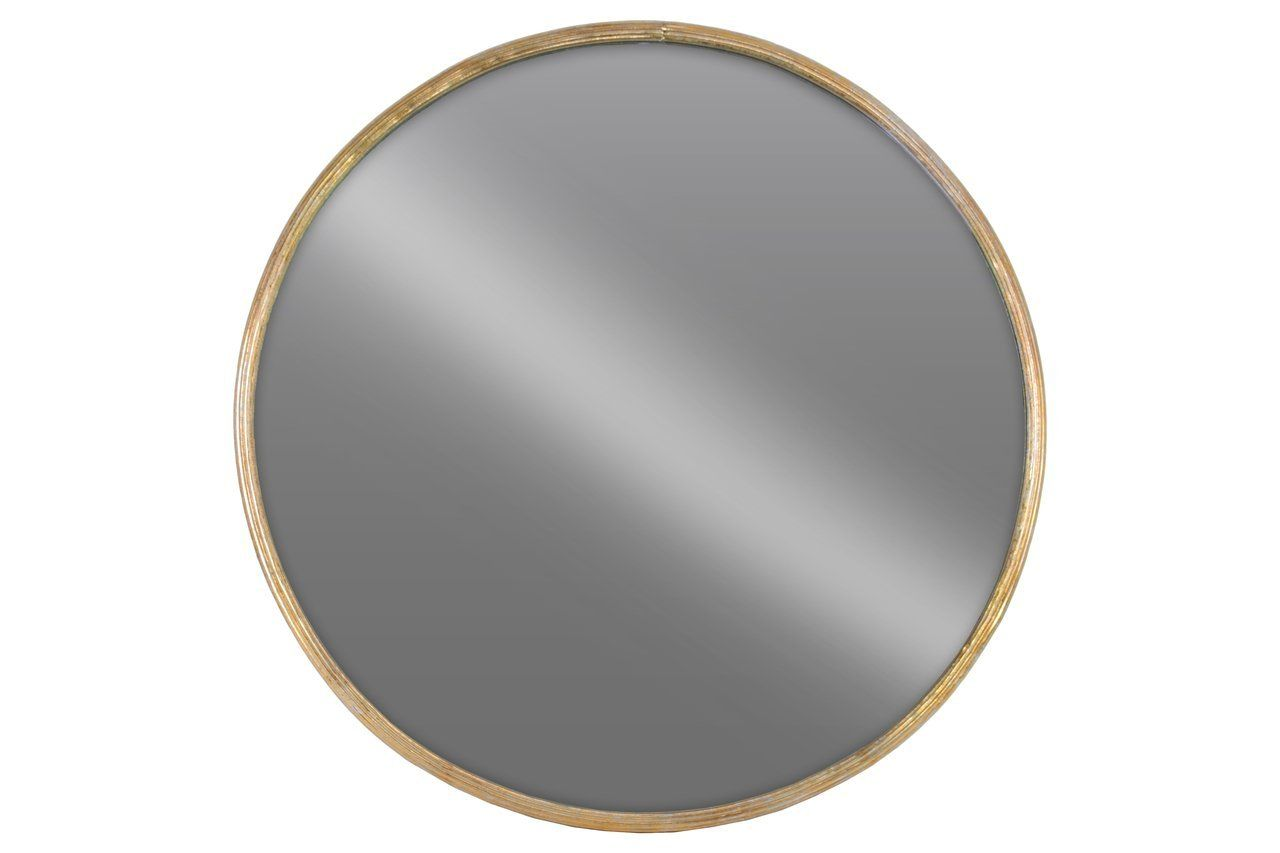 Amazon Com Urban Trends 67093 Metal Round Wall Mirror Lg Tarnished Gold Finish Home Amp Kitchen Round Wall Mirror Mirror Mirror Wall