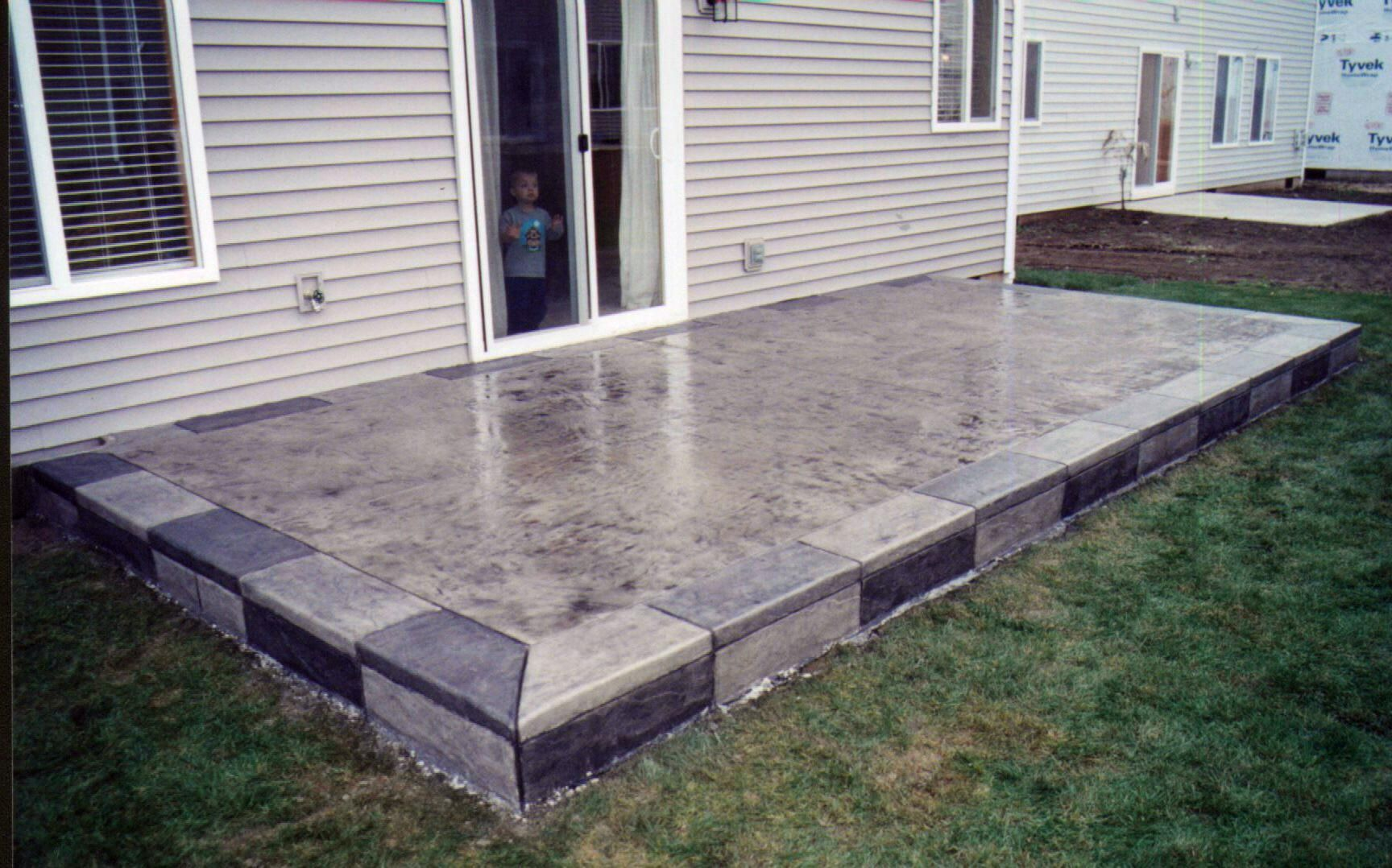 Patio designs google search patio design pinterest for Concrete slab plans