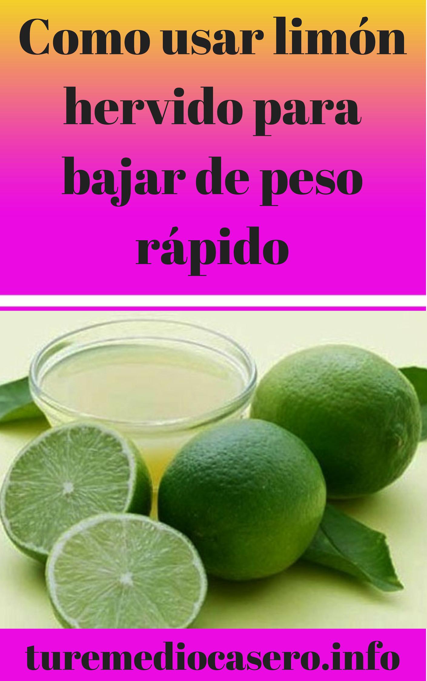 Limon hervido para el higado