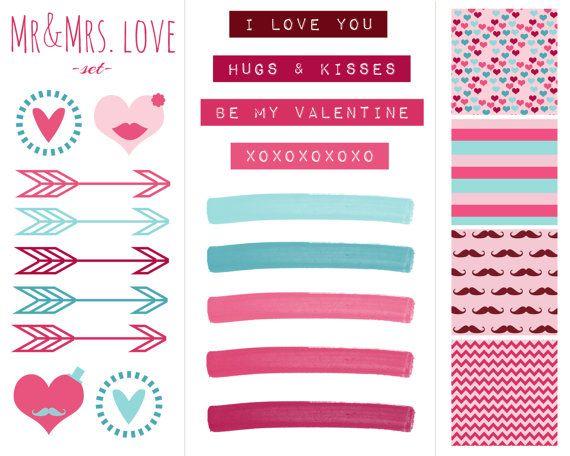 Digital Scrapbook Paper, Clip Art, Labels Valentine\'s Day Pink ...